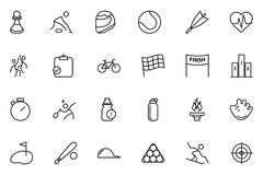 Sports Vector Line Icons 2 Stock Photo