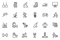Sports Vector Line Icons 4 Stock Photos