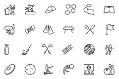 Sports Vector Line Icons 6 Stock Photos