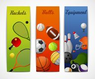 Sports vertical banners Royalty Free Stock Photo