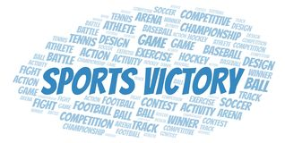 Sports Victory word cloud. Wordcloud made with text only vector illustration