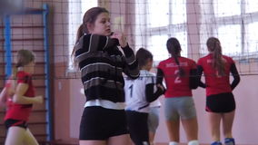 Sports Volleyball training. stock footage
