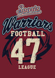 Sports Warriors Football league Stock Images