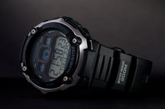 Sports watches. Watches sports on a black background Royalty Free Stock Photography