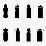 Sports water bottles Stock Images