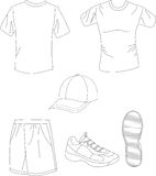 Sports wear Royalty Free Stock Images