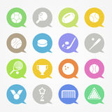 Sports web icons Royalty Free Stock Image