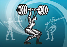 Sports_weight lifting Royalty Free Stock Photography
