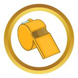 Sports whistle vector icon Stock Photography
