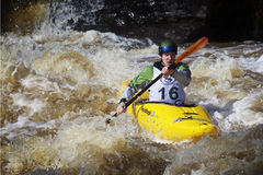 Sports: Whitewater rafting Royalty Free Stock Photos