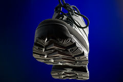 Sports winter boots macro Royalty Free Stock Photo