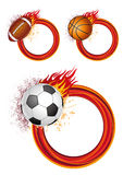 Sports With Flames Stock Photo