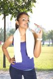 sports woman drinking water Royalty Free Stock Image
