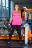 Sports woman in the gym. stock image