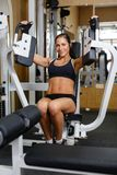 Sports woman in the gym. Royalty Free Stock Images