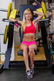 Sports woman in the gym. Stock Photos