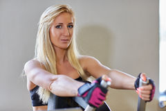 Sports woman in the gym. Stock Images