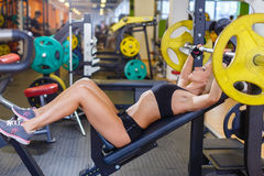 Sports woman in the gym. Royalty Free Stock Photo