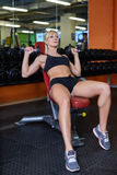 Sports woman in the gym. Stock Photo