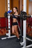Sports woman in the gym. Stock Photography