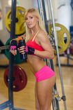 Sports woman in the gym. Royalty Free Stock Image