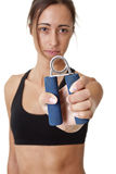 Sports Woman hand grip training hand Royalty Free Stock Photos