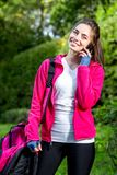 Sports woman in the park Stock Images