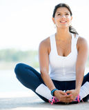 Sports woman stretching Stock Photos