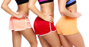 Sports women bodies Stock Photos