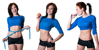 Sports women collection Stock Images