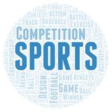 Sports word cloud. Wordcloud made with text only royalty free illustration