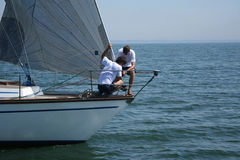 Sports work with sails stock photo