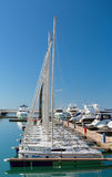 Sports yachts in Sochi port. Russia Stock Image
