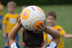 Sports, Yellow, Football, Player Stock Image