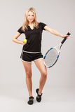 Sports young girl Stock Images