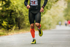 Sports young male athlete running Royalty Free Stock Photos