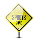 Sports zone sign illustration design Stock Photography