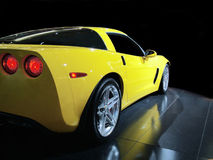 Sportscar. Yellow sportscar Royalty Free Stock Image