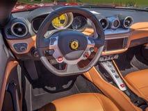 法拉利sportscar仪表板 库存图片