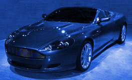 Sportscar abstrato azul Fotografia de Stock Royalty Free