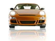 Sportscar auf weißem Hintergrund Lizenzfreies Stockfoto