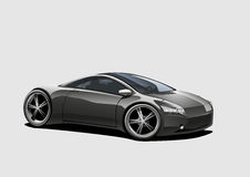 Sportscar, black Royalty Free Stock Photography