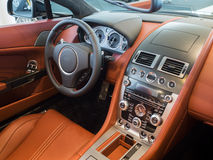 Sportscar dashboard interior Stock Images