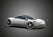 Sportscar elettrico, bianco Illustrazione Vettoriale