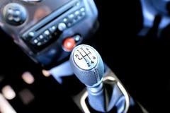 Sportscar gear shifter Stock Photo