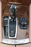 Sportscar gear shifter Stock Images