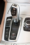 Sportscar gear shifter Stock Photo