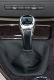 Sportscar gear shifter Royalty Free Stock Images