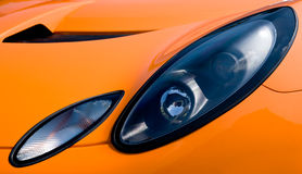 Sportscar Headlight Royalty Free Stock Images