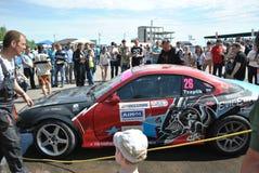 Sportscar het stemmen Concurrentie op gestemde auto's in afwijking rds Stock Afbeelding